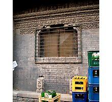 A Hutong Scene, Beijing, China Photographic Print