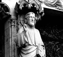 Jesus Statue, Notre Dame, Paris, France by littleinca