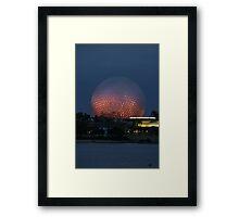 Walt Disney World Epcot Spaceship Earth at night Framed Print