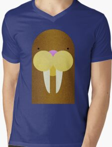 Peekaboo Walrus Mens V-Neck T-Shirt