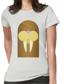 Peekaboo Walrus Womens Fitted T-Shirt