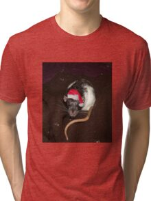 Christmas Dumbo rat Tri-blend T-Shirt