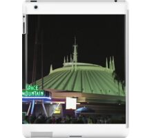 Space Mountain at night! iPad Case/Skin