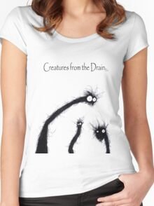 the creatures from the drain 7 Women's Fitted Scoop T-Shirt
