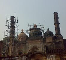 mosque under construction by meprabhakar