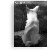 Loss of Pet Card Canvas Print