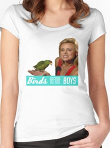 Birds Before Boys Women's Fitted Scoop T-Shirt