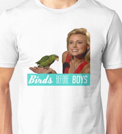 Birds Before Boys Unisex T-Shirt