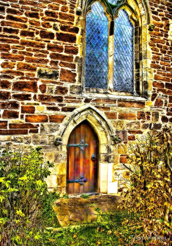 Church Door and Window by Trevor Kersley