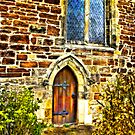 Church Door and Window by Trevor Kersley
