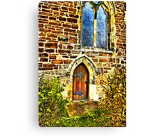 Church Door and Window Canvas Print