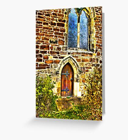 Church Door and Window Greeting Card