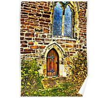 Church Door and Window Poster