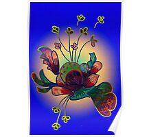 Stylized flora Poster