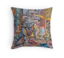 Batteries Not Included Throw Pillow