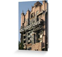 WDW Hollywood Studios Tower of Terror Greeting Card