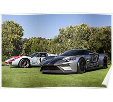Ford GT and Ford GT40 Poster
