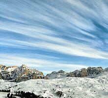 Wideangle dolomites cloudy landscape  by Francesco Malpensi