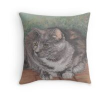 Precious Cat Throw Pillow