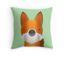 Peekaboo Fox Throw Pillow