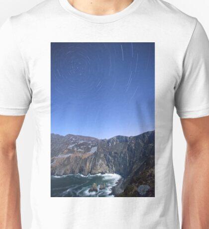 Star trails over Sliabh Liag Unisex T-Shirt