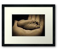 New Born Foot Framed Print