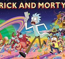 Rick And Morty..........And Monsters by ICECHIBII