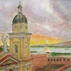 The Cathedral at Sunset, Santiago de Cuba by johnpbroderick