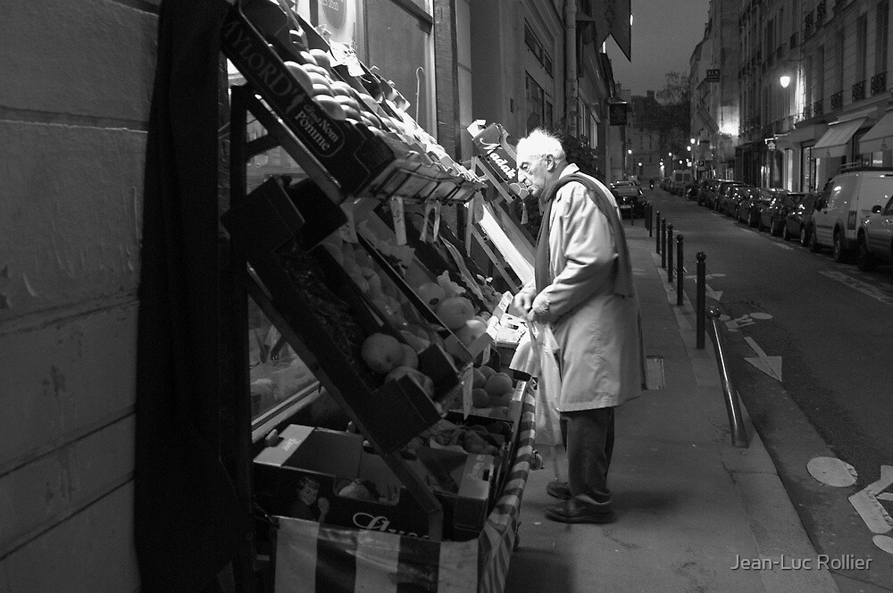 Paris - At the grocery. by Jean-Luc Rollier