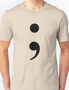 Black Semicolon Unisex T-Shirt