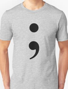 Black Semicolon Unisex T-Shirt