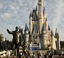 WDW Magic Kingdom Castle & Walt by chewi