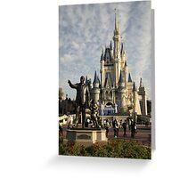 WDW Magic Kingdom Castle & Walt Greeting Card