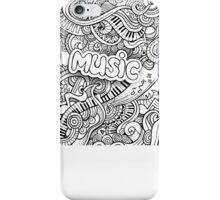 Black White Music Collage iPhone Case/Skin