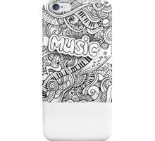 Black White Music Collage iPhone Case/Skin