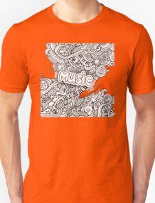 Black White Music Collage T-Shirt