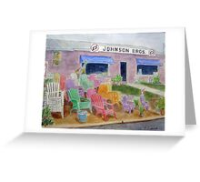 Chair Sale, Surry, Virginia Greeting Card