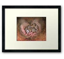 My Heart's In My Hands Framed Print