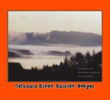 foggy sunrise, Columbia River, Rainier Oregon, haiku Kids Clothes