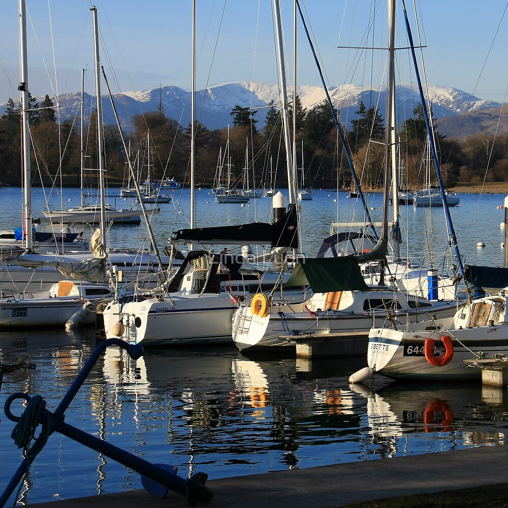 Bowness Boats by Linda Lyon