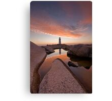 Peggy's Cove Rockpool Canvas Print