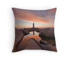 Peggy's Cove Rockpool Throw Pillow