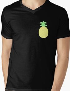 Pinapple Pattern Mens V-Neck T-Shirt