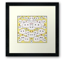 cuttie cloudy yellow Framed Print