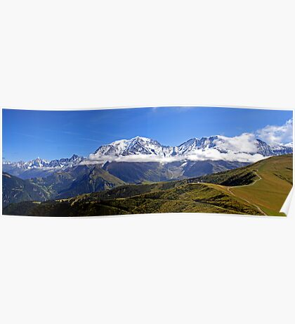 French Alps Panorama Poster