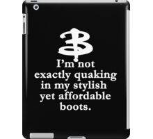 Buffy The Vampire Slayer Quote v2.0 iPad Case/Skin