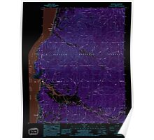 USGS Topo Map Oregon Neskowin 280909 1985 24000 Inverted Poster