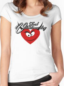 F*** Valentine's day Women's Fitted Scoop T-Shirt