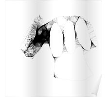 hand study -(130111)- the scribbler computer program Poster