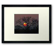 Sunset At Londolozi Framed Print